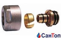 Резьбовое соединение для пластиковых труб (фитинг) SCHLOSSER — Никель GW 3/4 — 16×2