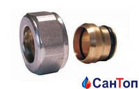 Резьбовое соединение (фитинг)  для медных труб SCHLOSSER Античная медь GW M22x1,5 x 15mm