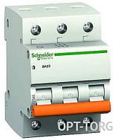 Schneider Electric Автоматический выключатель SCHNEIDER ВА63 3п 32A С (тройной) #11226