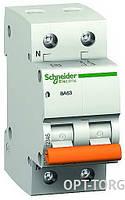 Schneider Electric Автоматический выключатель SCHNEIDER ВА63 1п+н 16A C (двойной) #11213