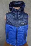 """Детская болоньевая жилетка """"Adidas"""" на синтепоне, 1-5 лет"""