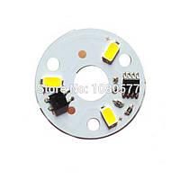 LED модуль 3W 220V Теплый белый