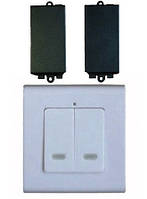 Беспроводной настенный выключатель Inted 220V на 2 приемника