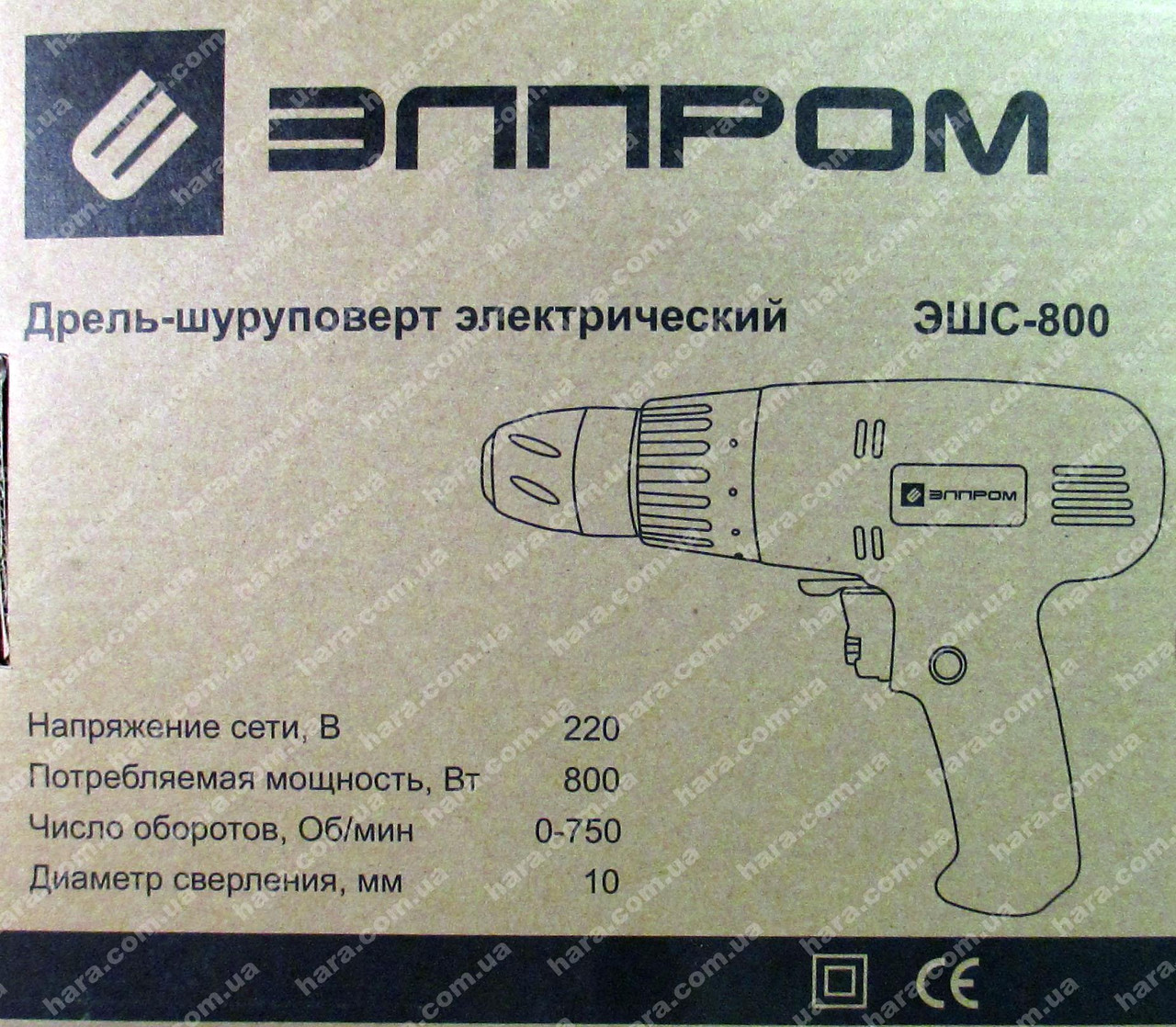 Сетевой шуруповерт ЭЛПРОМ (800Вт)