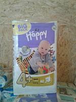 Подгузники Bella Happy 4+ Maxi 62 шт