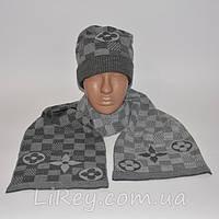 Шапка с шарфом