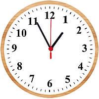 """настенные часы на стекле """"Класик"""" круглые"""