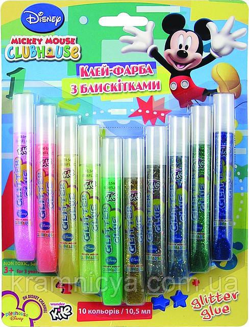 "Клей-краска с блёстками ""Mickey"", 10шт х 10мл"
