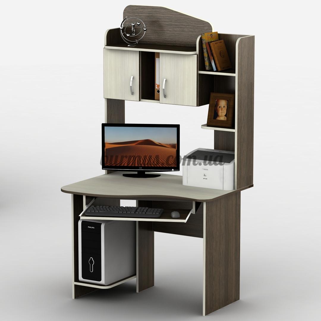 Компьютерный стол с тумбочками, Тиса-28, 1м*80 см, дуб молочный+ венге магия - ЧП Бурмус в Полтаве