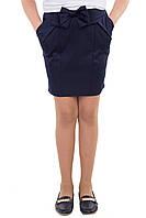 Школьная синяя юбка для девочки БАНТ размеры 134,152