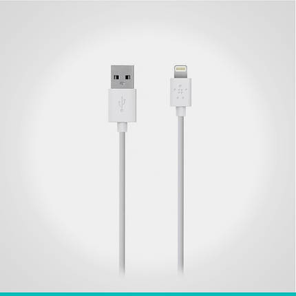 USB кабель Belkin с разъемом Lightning 1.2 м., фото 2
