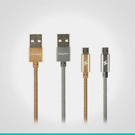 USB кабель Awei с разъемом MicroUSB 1 м., фото 2