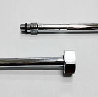 Трубка хромированная для подключения смесителей М10х 1/2 В 0,8 м ALBERTONI
