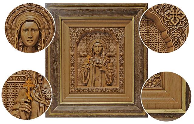 икона резная деревянная Святой Мученицы Татьяны (Татианы)