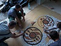 Полы из мраморной крошки. Мозаичный пол