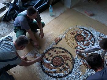 Терраццо - підлоги з мармурової крихти. мозаїчна підлога