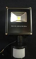 Прожектор светодиодный Alesto ECO FL-S-10Вт с датчиком движения и света