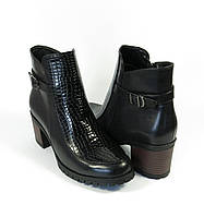Женские черные ботиночки
