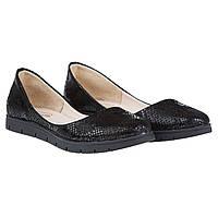 Балетки Kento (черного цвета, кожаные, легкие, стильные, модные)