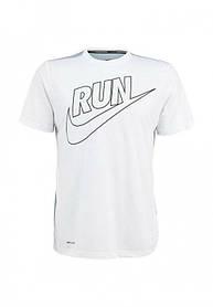 Брендовая футболка Nike, найк ран, белая, спортивная, стильная, хлопок, КП15