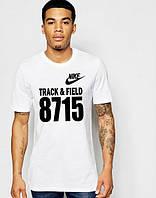Брендовая футболка Nike, найк, белая, мужская, стильная, черное лого, молодежная, хб, КП62