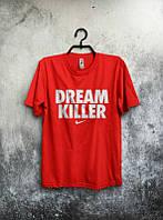 Брендовая футболка Nike, найк, красная, в наличии, мужская, хлопковая,молодежная, стильная, КП79