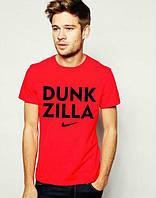 Брендовая футболка Nike, найк, красная, мужская, летняя, трикотаж, большое лого, КП90