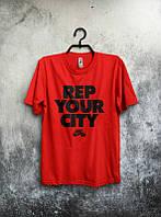 Брендовая футболка Nike, найк, красная, мужская, летняя, трикотаж, в наличии, КП93