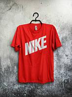 Брендовая футболка Nike, найк, красная, мужская, летняя, трикотаж, стильная, КП92