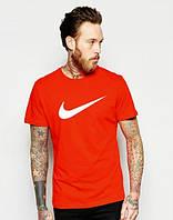 Брендовая футболка Nike, найк, красная, мужская, летняя, хлопок, в ассортименте, КП100