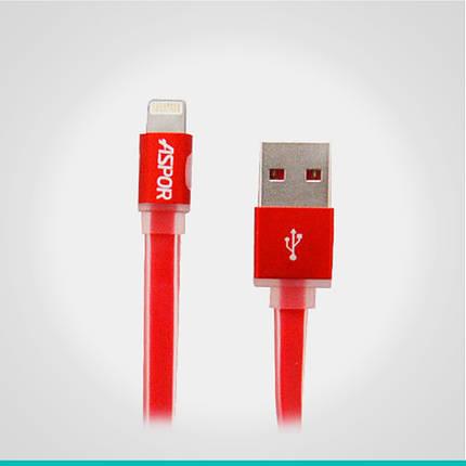 USB кабель Aspor с разъемом Lightning 1 м. А136, фото 2
