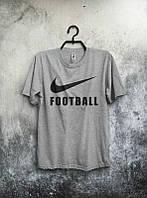Брендовая футболка Nike, найк, серая, мужская, молодежная, КП133