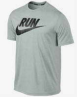 Брендовая футболка Nike, найк, серая, мужская, летняя, хб, стильная, КП136