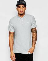 Брендовая футболка Nike, найк, серая, мужская, летняя, хб, мелкое лого, стильная, КП138
