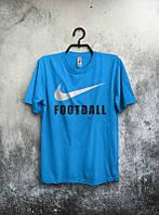 Брендовая футболка Nike, найк, синяя, стильная, мужская, в наличии, летняя, хлопок, КП191