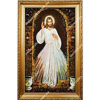 Икона из янтаря Иисус Милосердный