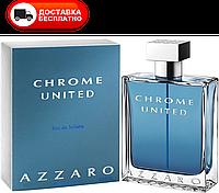 Мужская туалетная вода Azzaro Chrome United edt 100 ml