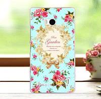Чехол накладка для Nokia Lumia 930 с принтом Розовый сад