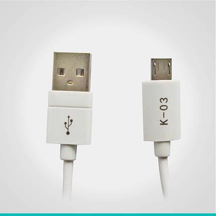USB кабель Kingleen с разъемом MicroUSB K-03, фото 2