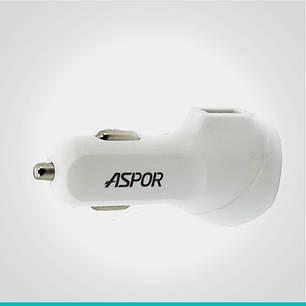 Автомобильное зарядное устройство Aspor 2 USB-порта, фото 2