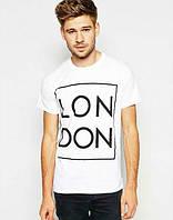 Брендовая футболка, белая, мужская, хб, в наличии, КП874