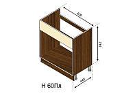 Н 60Пл Флора нижний модуль (Світ Меблів ТМ)
