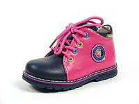 Детские ботинки Clibee F-587 Малина+Синий (Размеры: 20-25)