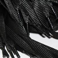 Шнурок 9 мм плоский черный 130 см