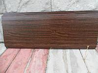 Металлосайдинг вертикальный с микрорибером printech Марокканский Орех