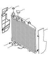 Подушка радиатора охлаждения верхняя Geely MK