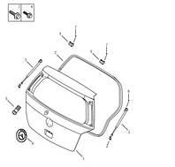 Амортизатор крышки багажника правый (хетчбэк) Geely MK-2