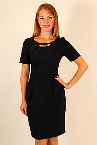 Классическое платье футляр 42-48 р  ( синий, черный, электрик )