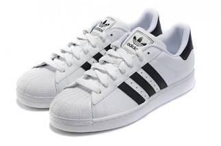 Кроссовки в стиле Adidas Superstar White/Black, фото 2