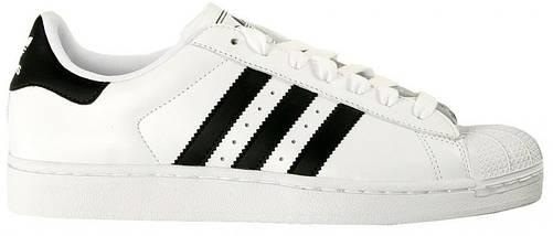 Кроссовки мужские в стиле Adidas Superstar White-Black, фото 3
